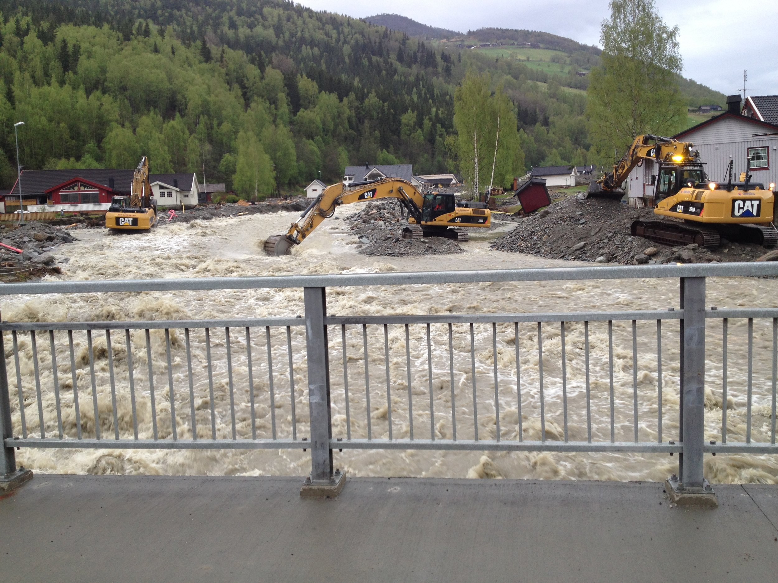 Kvam - The flow events are part of the project on water induced landslides.