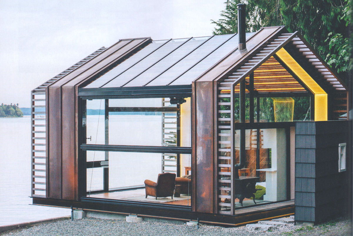 """A beautiful space with high visual impact, but how would it """"feel"""" when inside? Warm and cozy? Or reflective and hard?"""