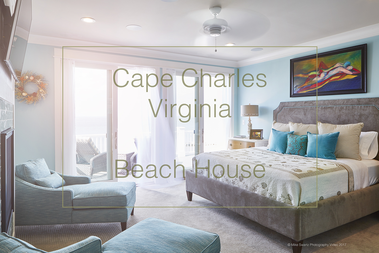 This stunning beach front property is located in Cape Charles, Virginia. Beach House was part of a fourteen day shoot on twelve different properties. Cape Charles is located within Virginia's Eastern Shore on the beautiful Chesapeake Bay.
