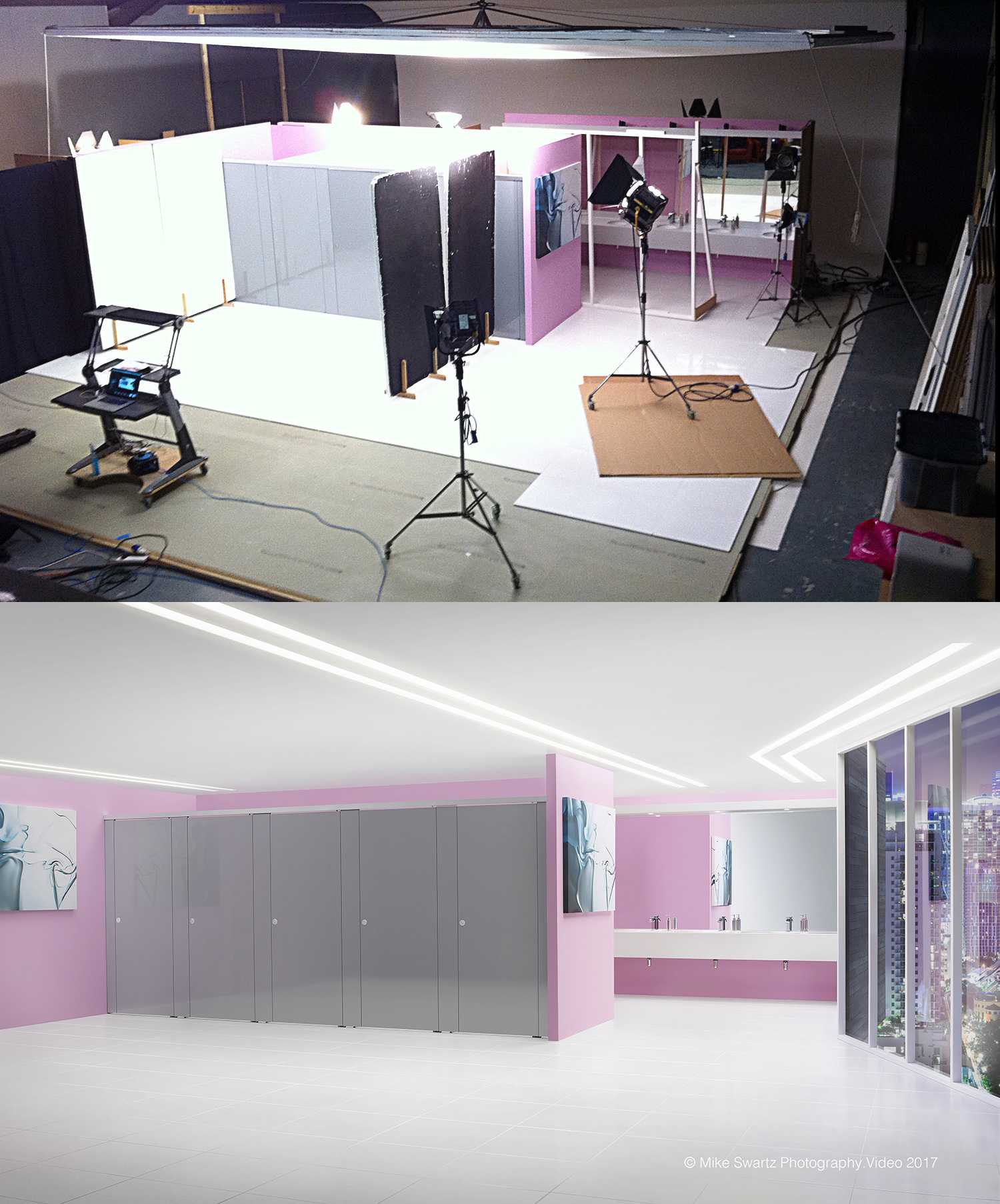 Set photography, video and CGI where carried out in completion of this and three other sets within this shoot. Two studios where used, building and shooting back to back. CGI was also used in the execution of these projects.