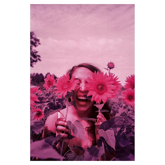 @mallorykalajian and i went on vacation to another planet #lomochromepurple #heylomography #sunflowers #love #friends #lomography #leica #leicacamera