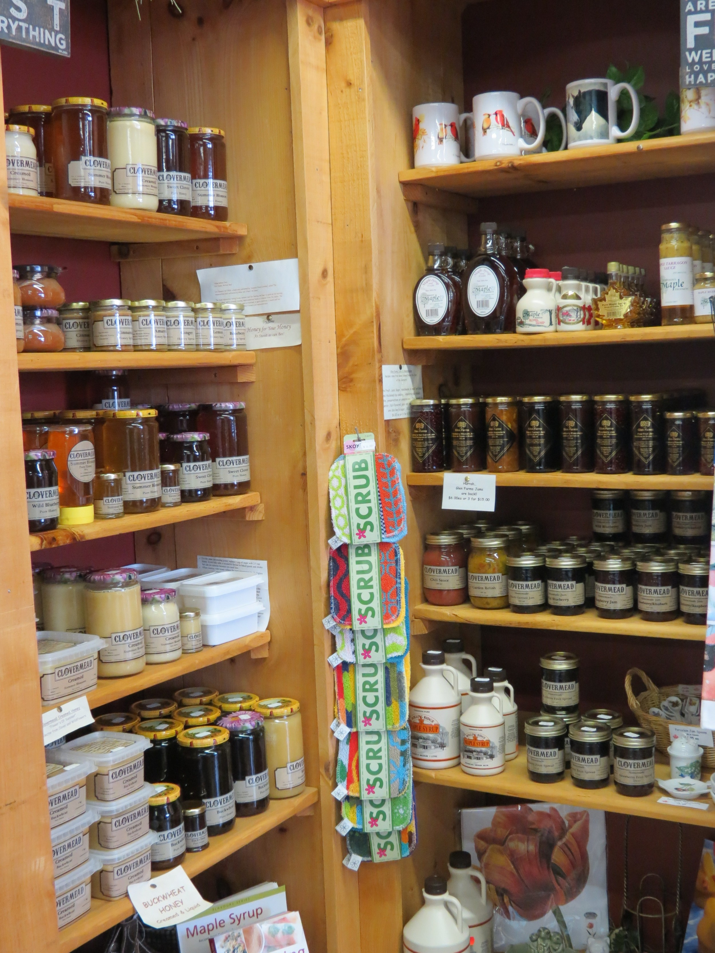 Local Honey, Local Maple Syrup, Local Jams & Relishes!!