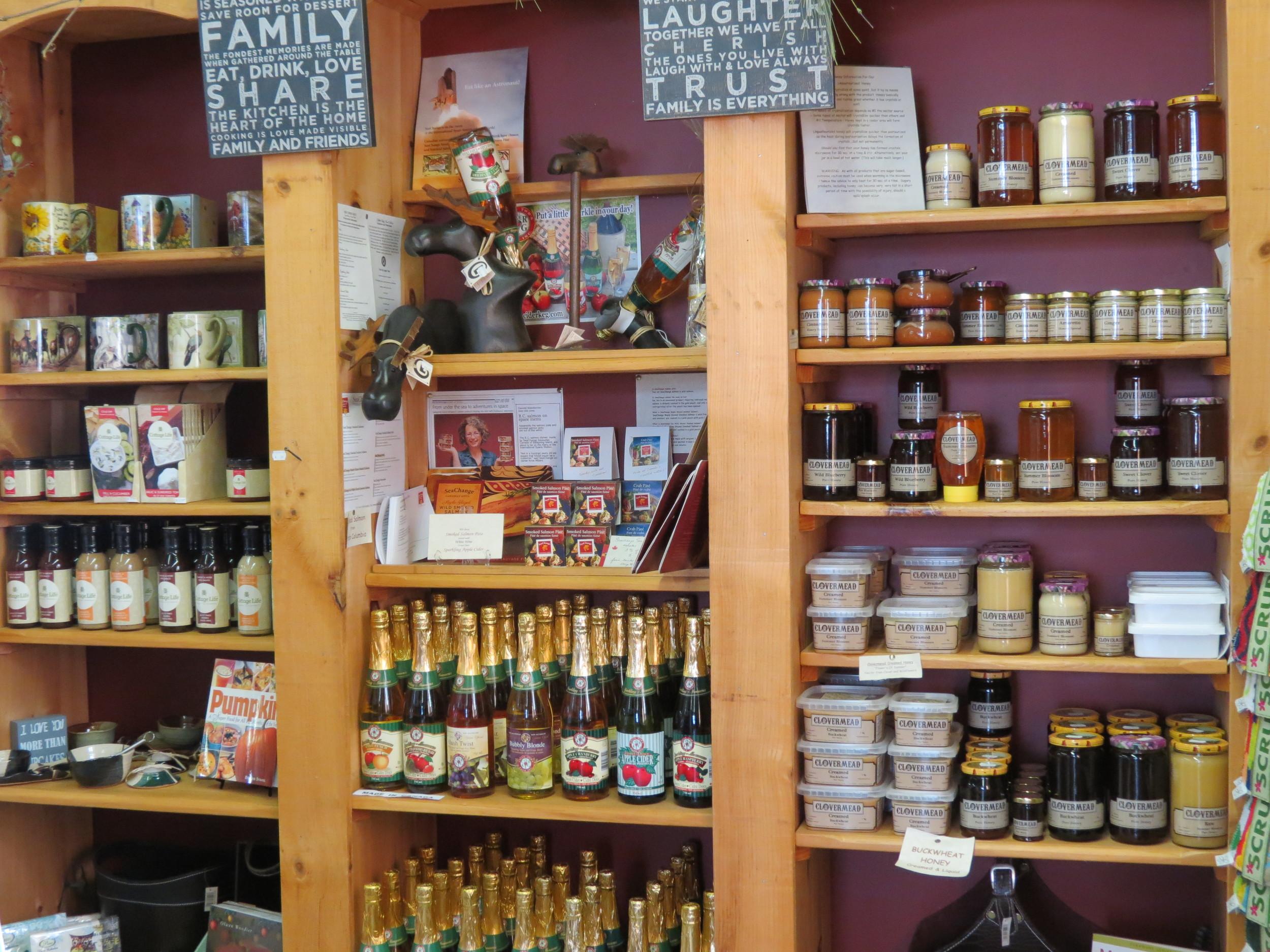 Sauces, Salsas, Sparkling Cider, Summer Blossom Honey, Maple Syrup....