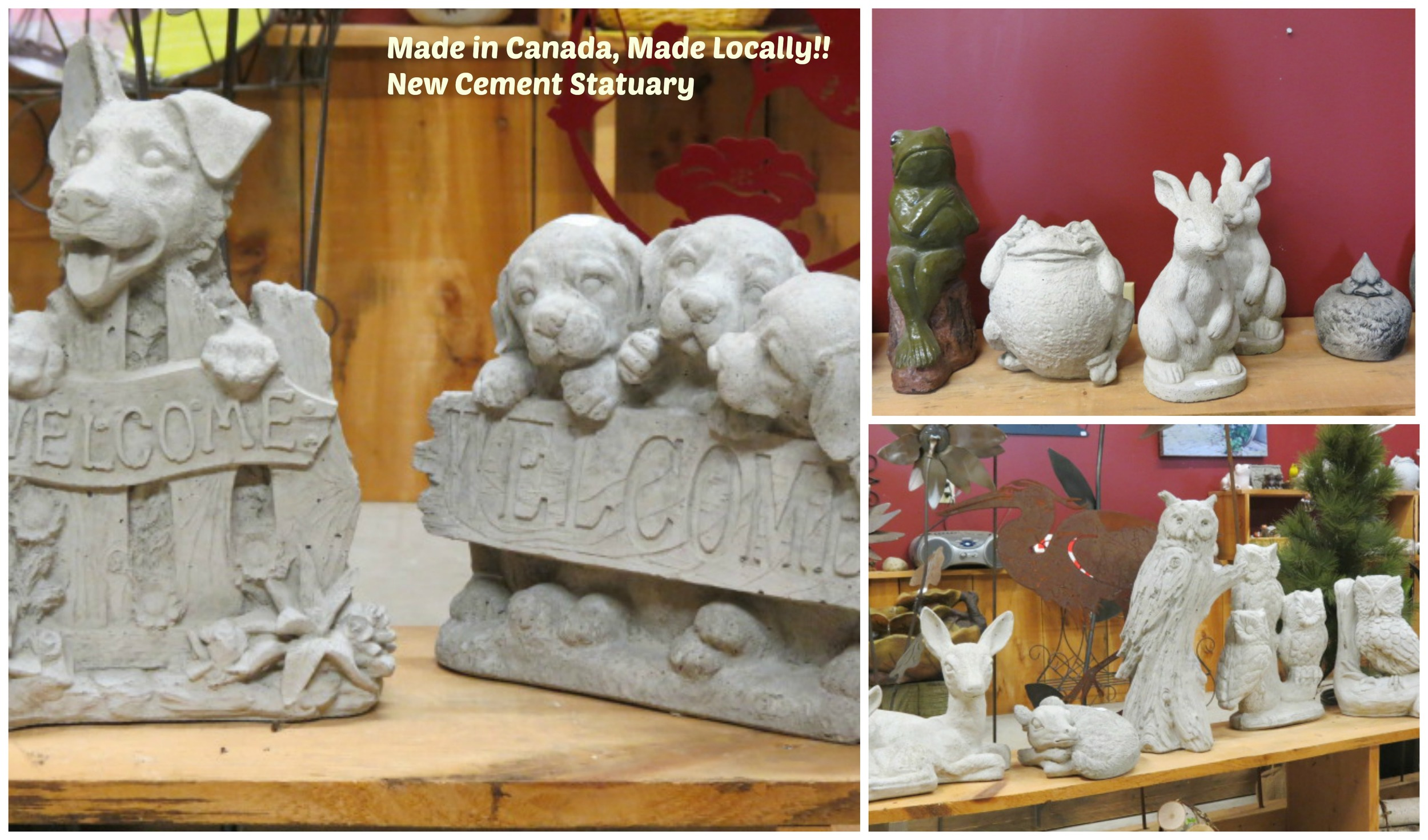 Just-arrived Cement Statuary