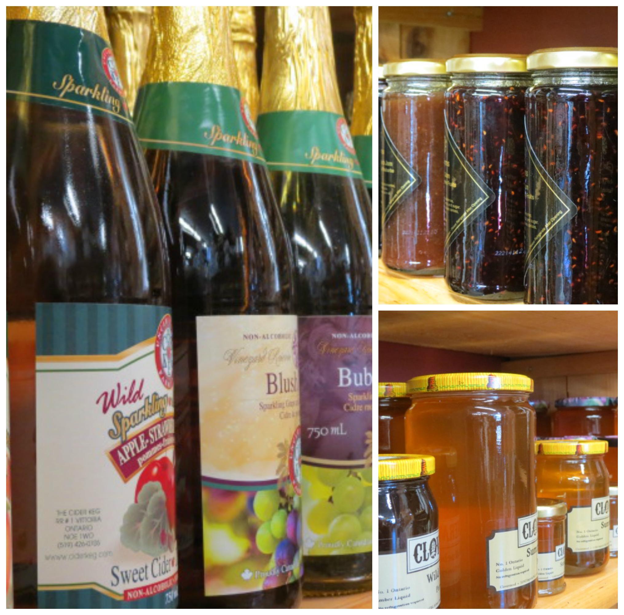 Sparkling Cider, Honey & Gourmet Jam!