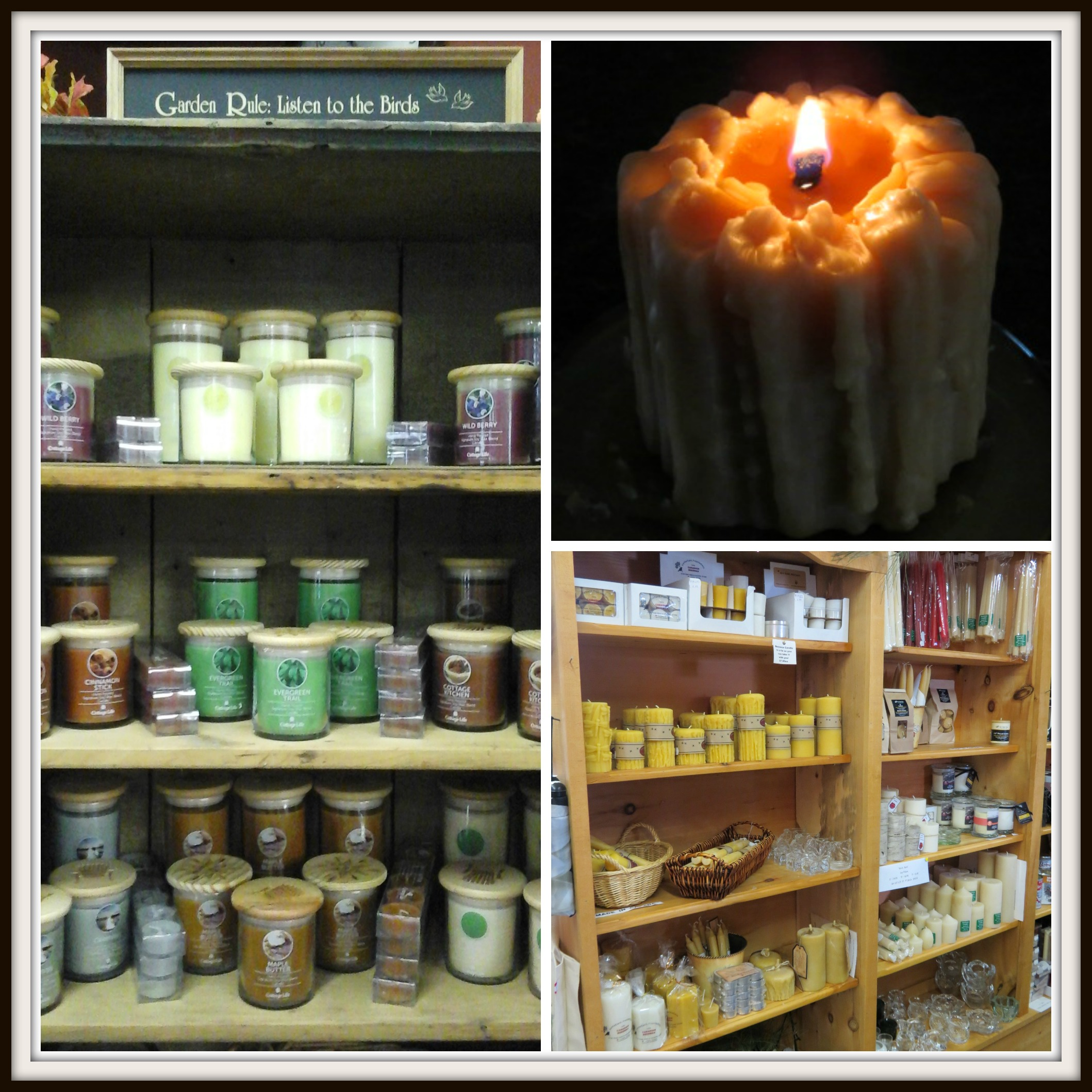 We offer an amazing selection of both BEESWAX CANDLES & SOY CANDLES!!