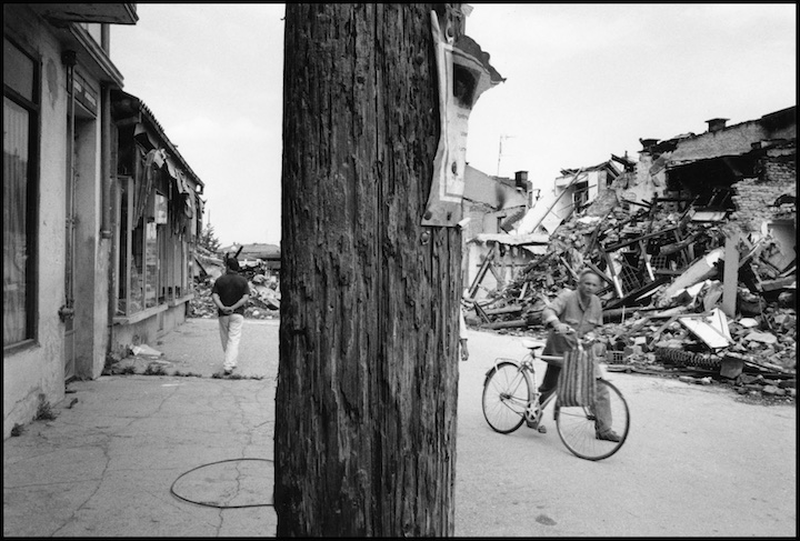 The Albanian quarter of Peja, destroyed by Serb military or paramilitary forces shortly after NATO commenced their bombing campaign. Kosovo.