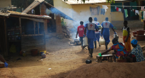 Since July 2014, Red Cross volunteers in Guinea have faced an average of ten attacks a month by people mistrustful of their activities to help end the Ebola outbreak. Photo: Moustapha Diallo, IFRC