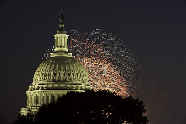 4th of July fireworks over the US Capitol Building. Photo courtesy of the Architect of the Capitol