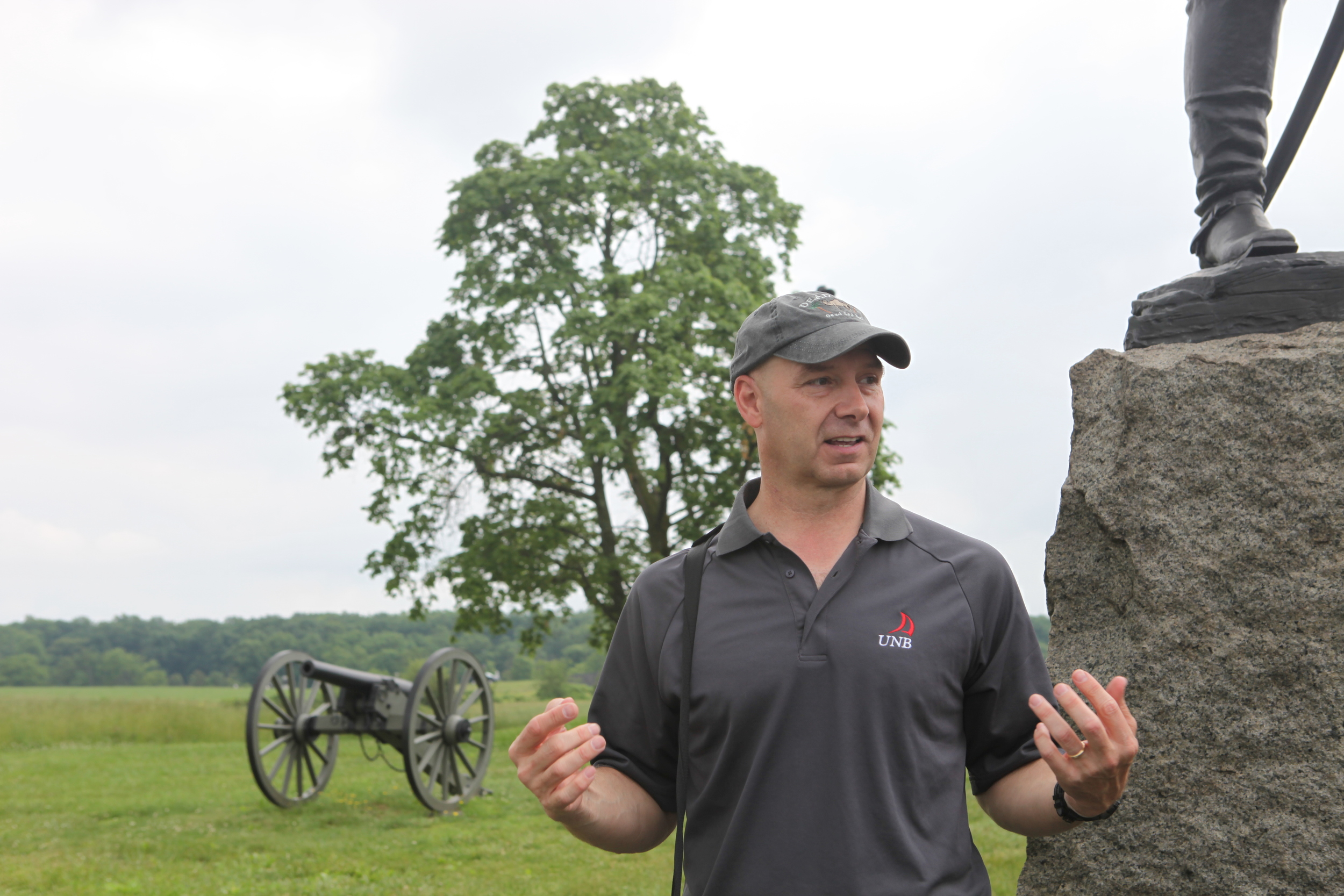 US Army War College Historian, Colonel Douglas Mastriano, says the Battle of Gettysburg changed world history. Copyright: A Nelson/ICRC