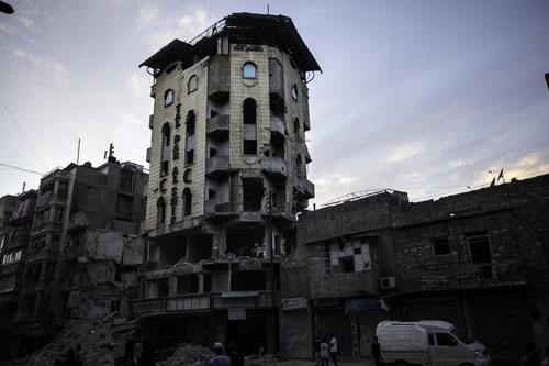 Syria, 2013. The main hospital in Aleppo, after a bombing raid. © ICRC / Ricardo Garcia Vilanov