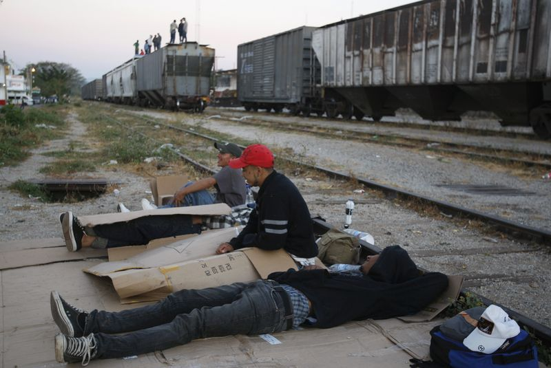 """Near the final hurdle and at risk - Waiting for the freight train """"La Bestia"""", Chiapas - Photo courtesy of Reuters/Jorge Luis Plata"""