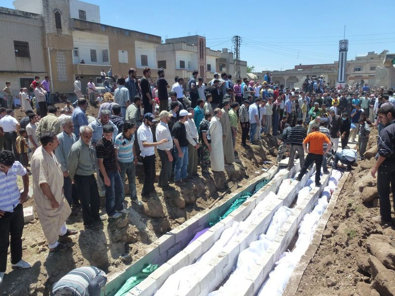 First hand account of the situation in Al Houleh, Syria - Mass burial, May 26/Photo courtesy of Reuters/Handout