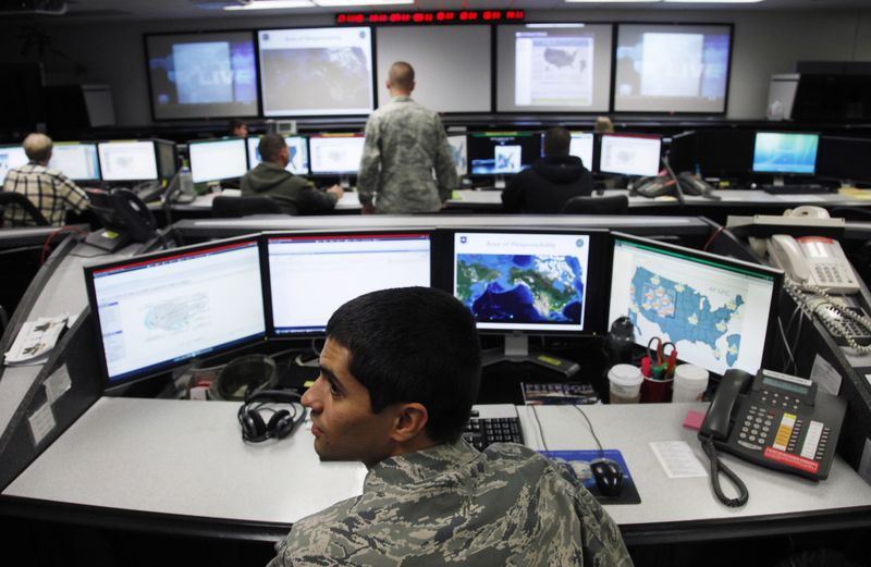 Cyber - Need to spare civilians is greater than ever - US Air Force Space Command, Colorado Springs, CO - Photo courtesy of Reuters/Rick Wilking