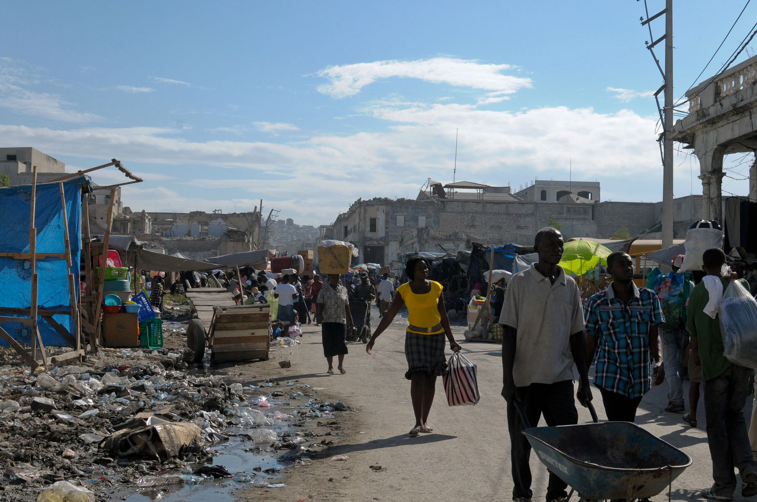 Port-au-Prince, two years later - Photo courtesy of Reuters/Swoan Parker