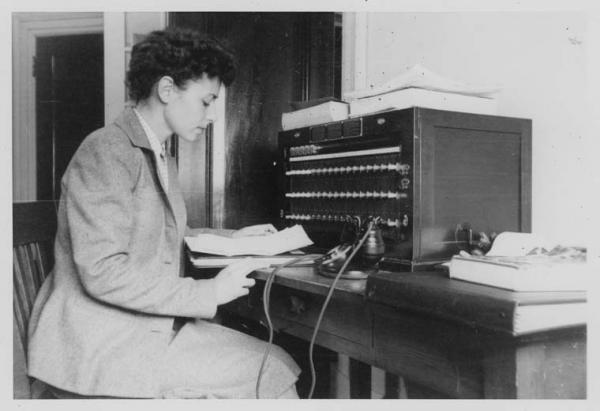 ICRC Washington telephonist at the switchboard