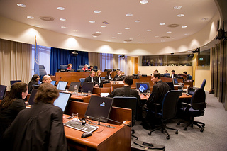 Courtroom 1 in session at the The International Criminal Tribunal for the former Yugoslavia (ICty). http://www.icty.org/