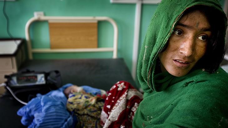 Pediatric unit at Mirwais hospital, Kandahar. CC BY-NC-ND / ICRC / Kate Holt