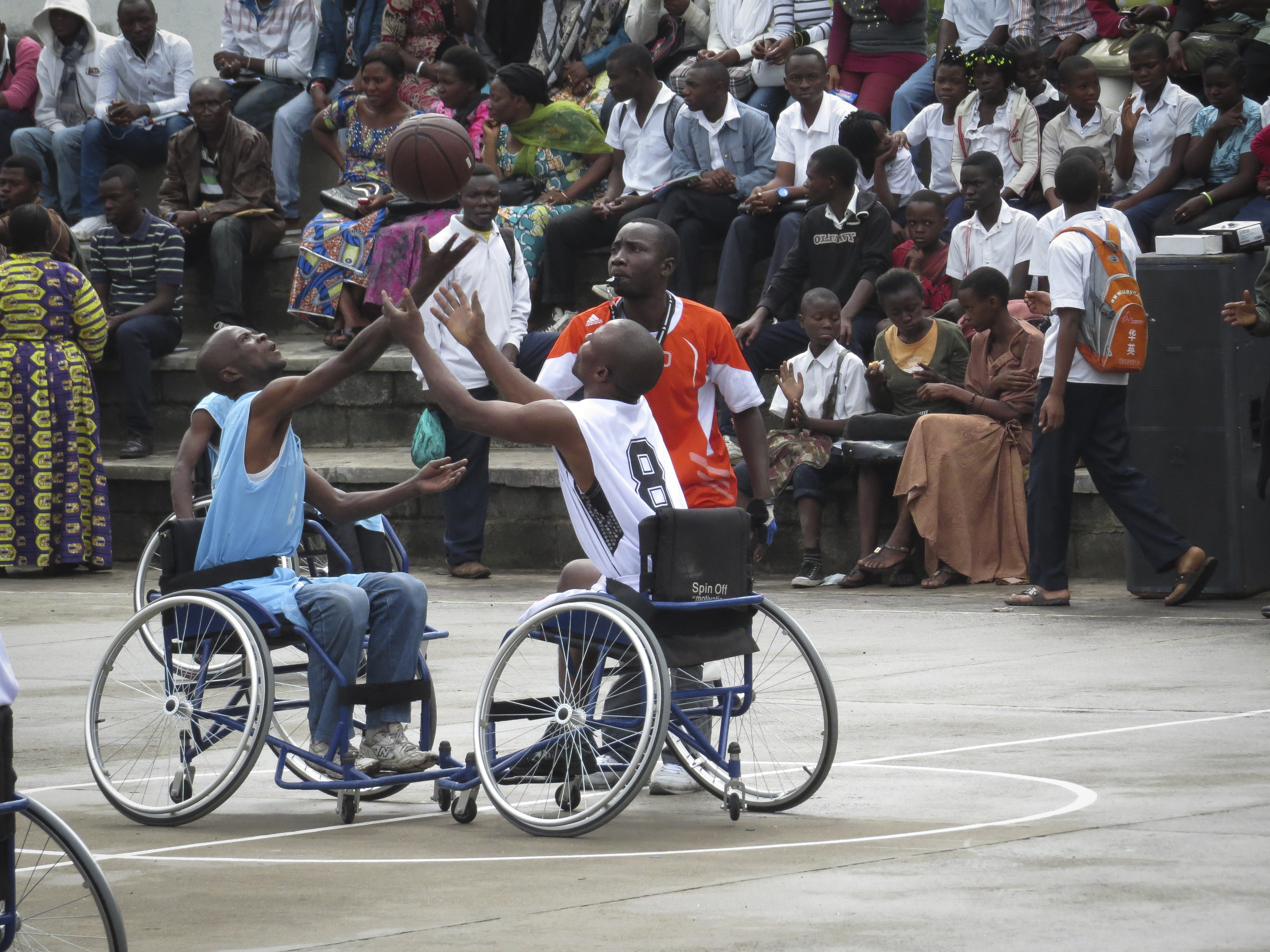 North Kivu, Goma. A basketball game organized for the international day of the disabled.Photographer: elodie SCHINDLER,©ICRC.