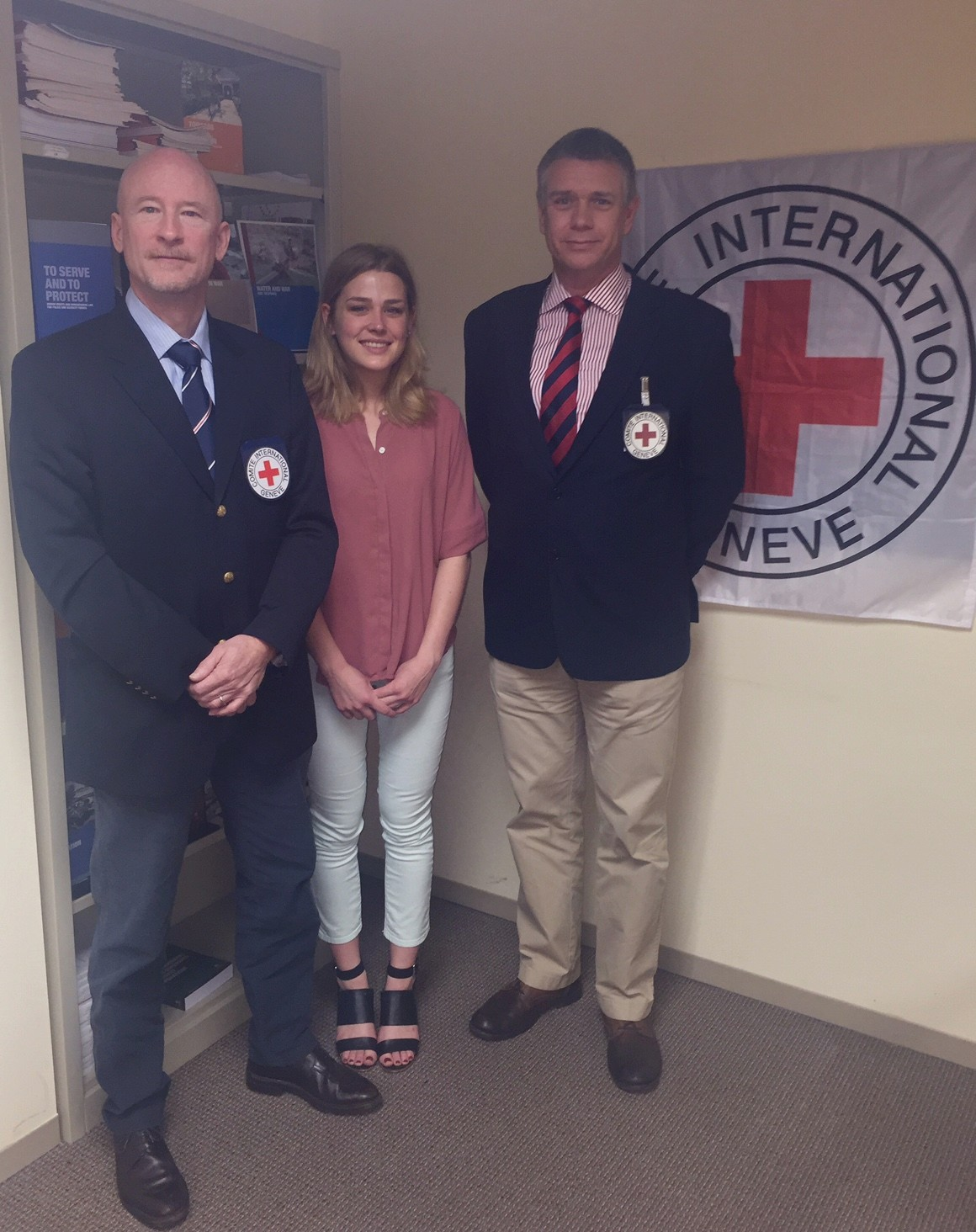 Washington, D.C.: Martin Lacourt, Senior Armed Forces Delegate, Peter Evans, Armed Forces Delegate, and Carly Steffes, Armed Forces Assistant