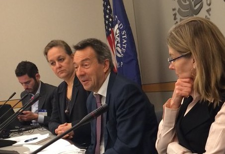 ICRC President, Peter Maurer, giving remarks at a United States Institute of Peace (USIP) event in Washington, D.C. on humanitarian negotiations on April 28, 2016. Copyright:ICRC