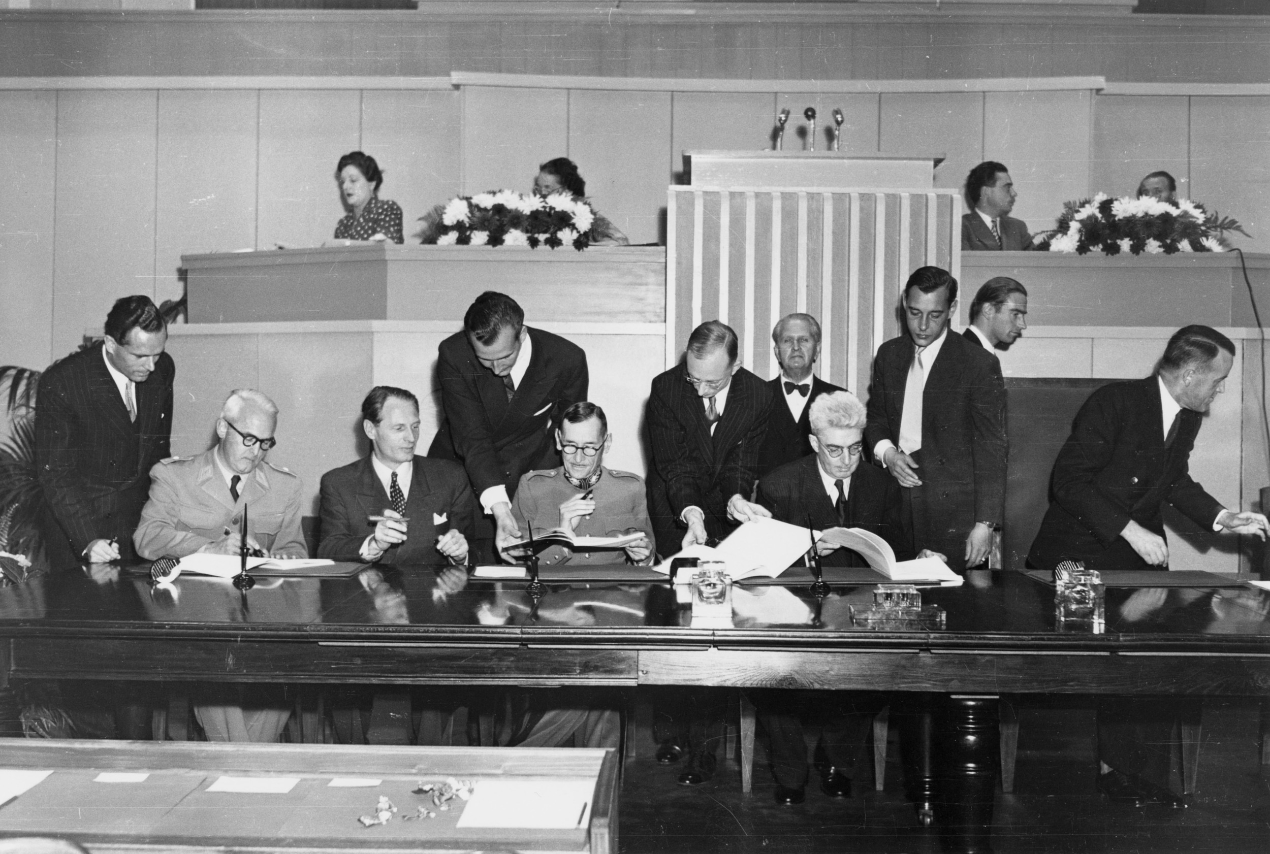 Diplomatic Conference of Geneva, 1949. J. Cadoux/ICRC Archives.
