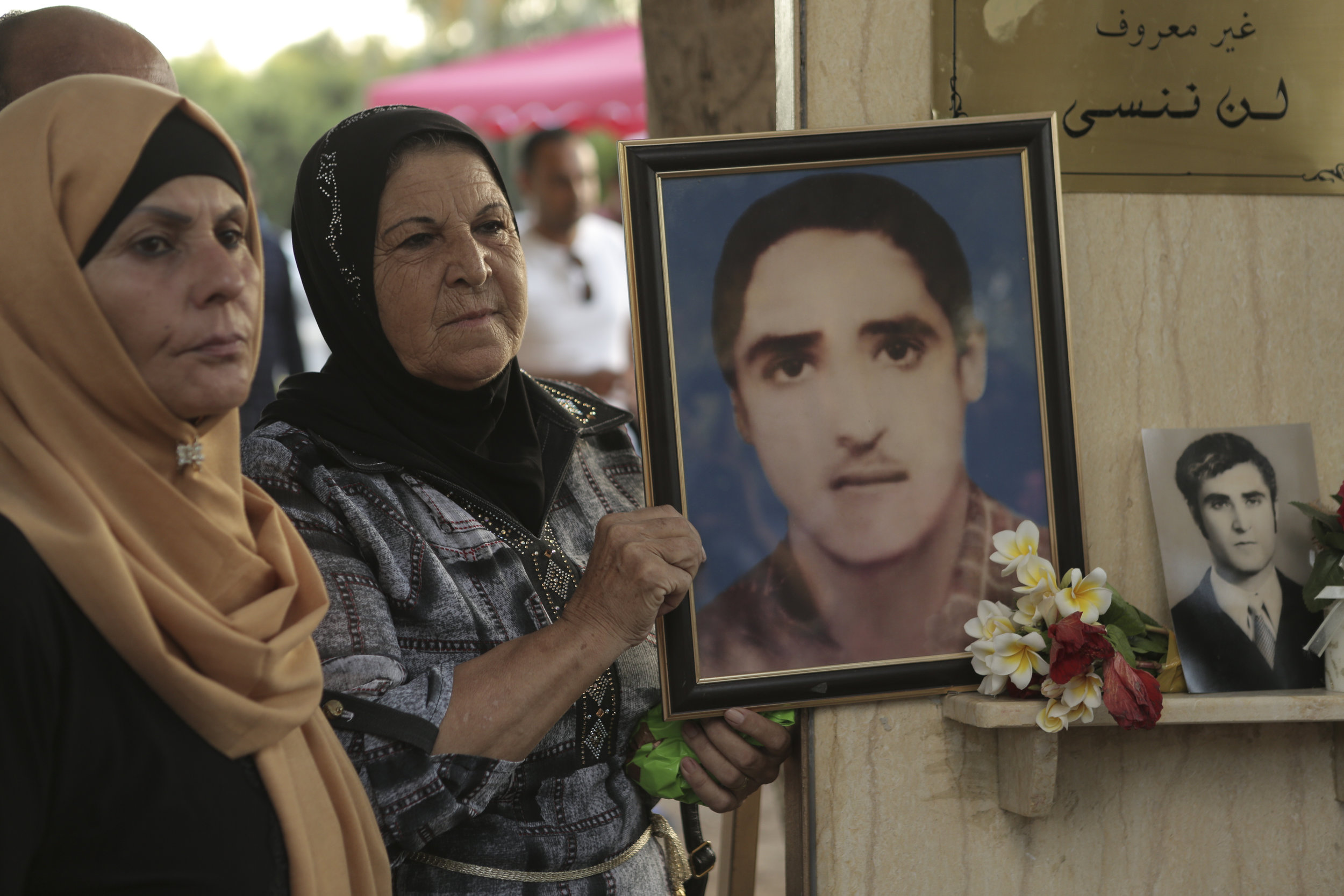 Tyre, Lebanon. Parents remember their missing children. Copyright/ICRC
