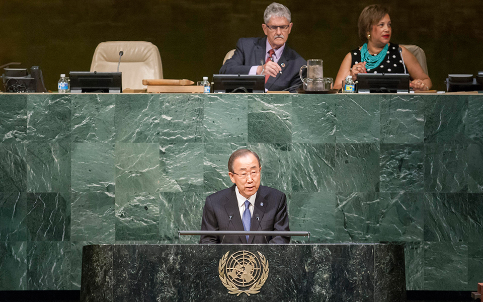 Secretary-General Ban Ki-moon at the 5th Review of the UN Global Counter-Terrorism Strategy in New York, June 30-July 1, 2016. UN Photo/Manuel Elias