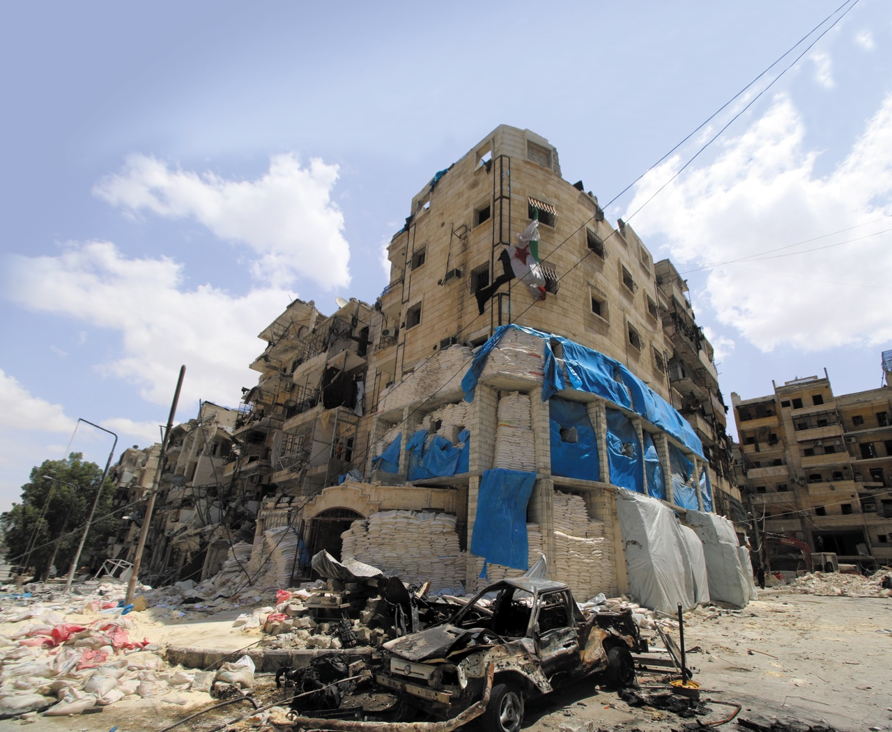 Al-Quds hospital in Aleppo, Syria after it was hit by airstrikes in April 2016. Photo: REUTERS/Abdalrhman Ismail