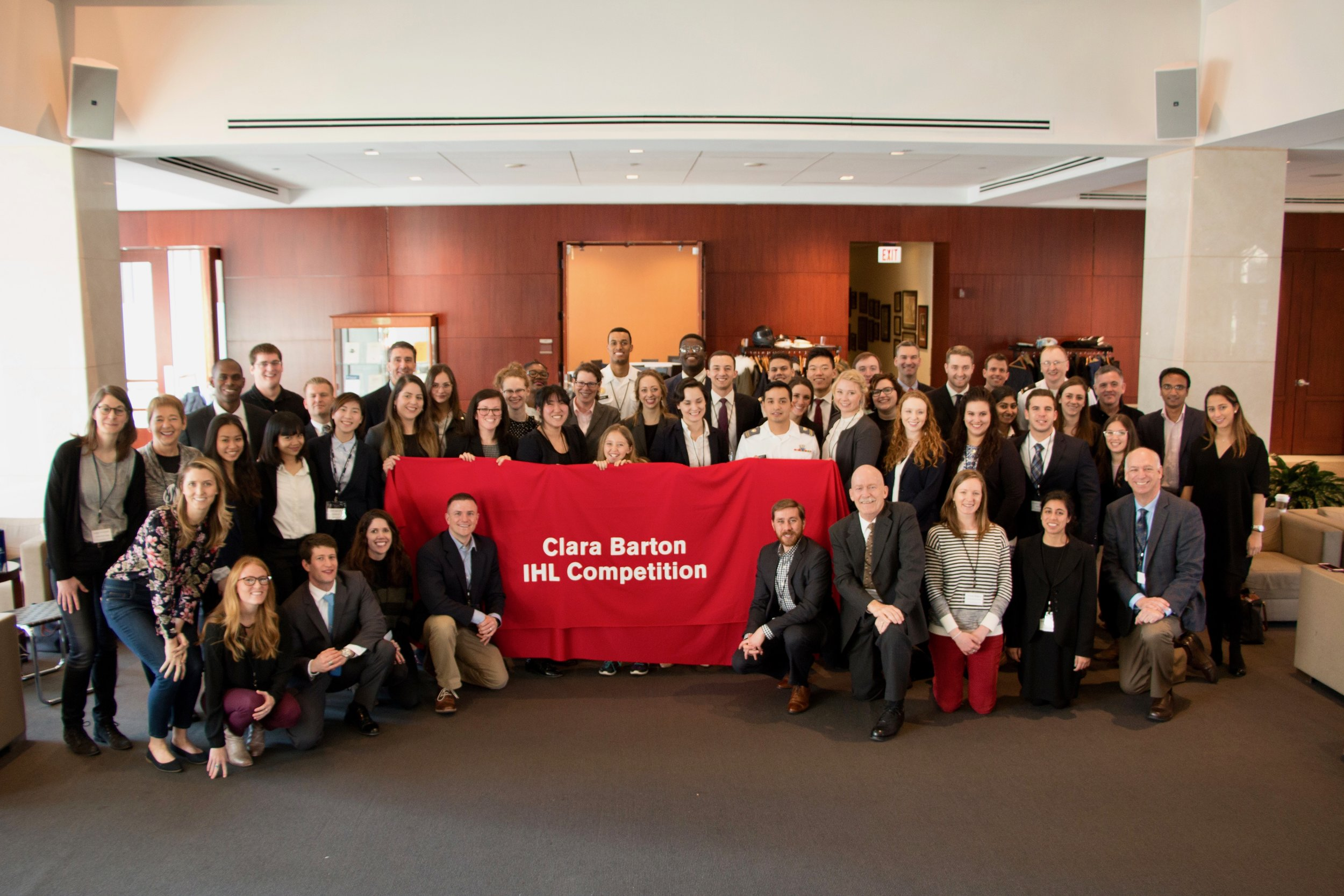 Students, judges, and Clara Barton Committee members. Joe Gibson/American Red Cross