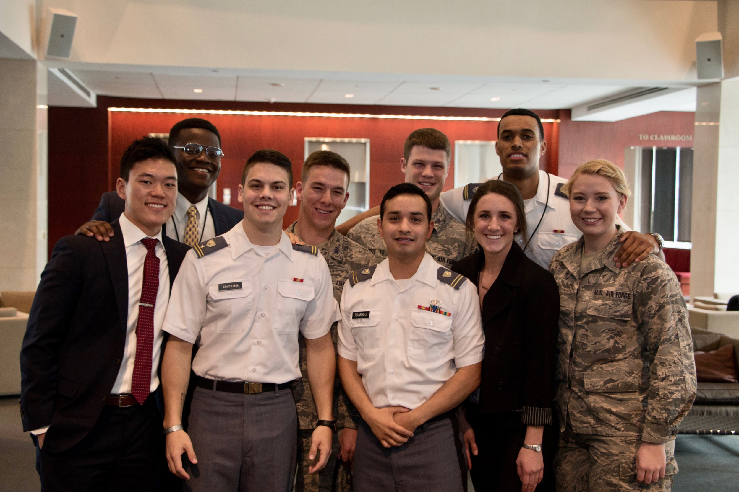 Participants from U.S. Military Academies. Joe Gibson/American Red Cross