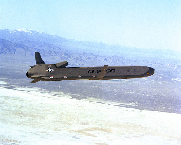 Photo courtesy of US Air Force: https://commons.wikimedia.org/wiki/File:AGM-86_ALCM.JPEG
