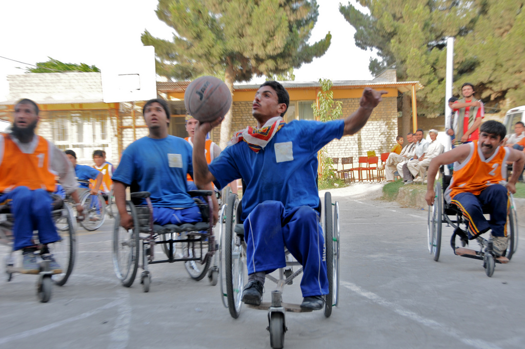 "Mazar-i-Sharif, Afghanistan/   ICRC   In 2010, Alberto's ""right hand man,"" Najmuddin Helal, who drove over a landmine when he was a young man and joined the ICRC after first serving as a patient, came to him with an idea: The formation of wheelchair basketball teams in Afghanistan."