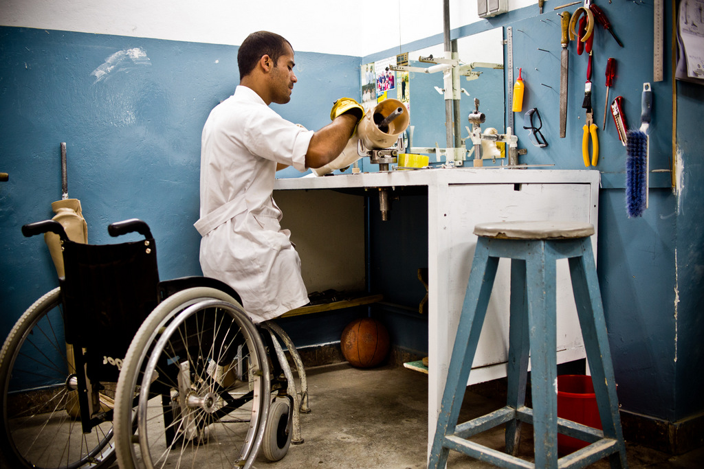 Kabul, Afghanistan/   Jacob Simkin, ICRC   Over the past three decades, Alberto and his teams have helped more than 150,000 disabled Afghans learn to walk again. In 2016 alone, 136,000 people received physical rehabilitation services at seven ICRC centers.