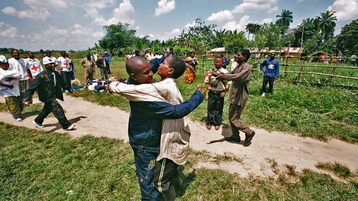 Democratic Republic of the Congo, Sud Kivu, Shabunda town. Seven former child soldiers are reunited with their families / ICRC