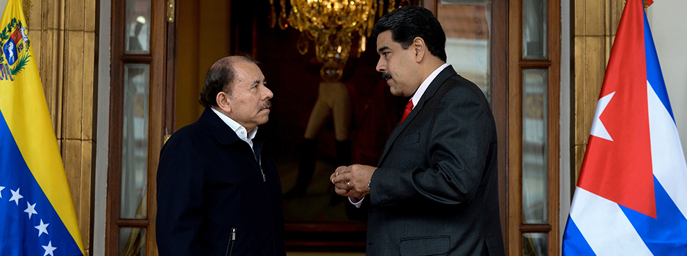 Venezuelan President Maduro and Nicaraguan President Ortega in Caracas, March 5, 2018