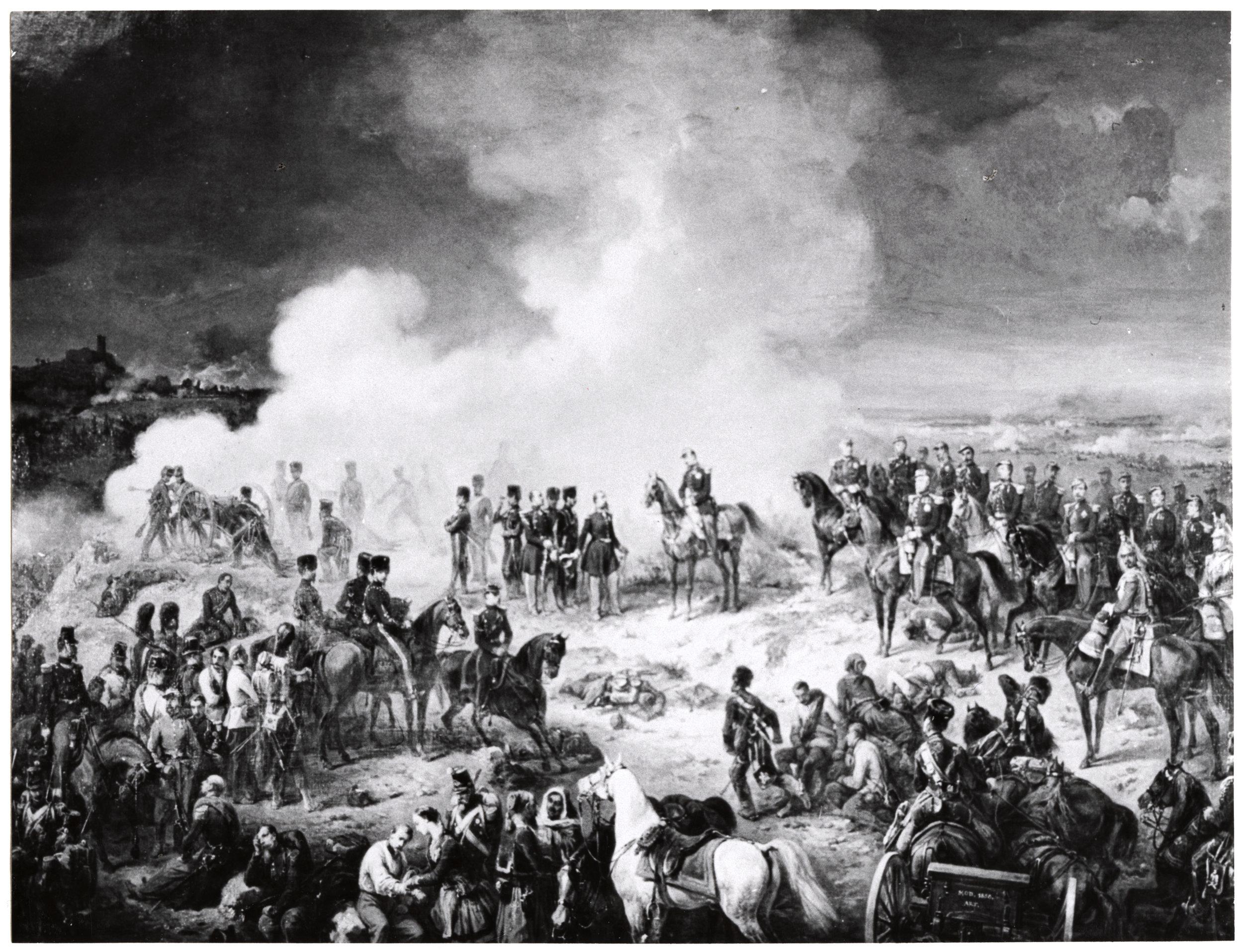 In the heat of battle. Solferino, June 24, 1859.