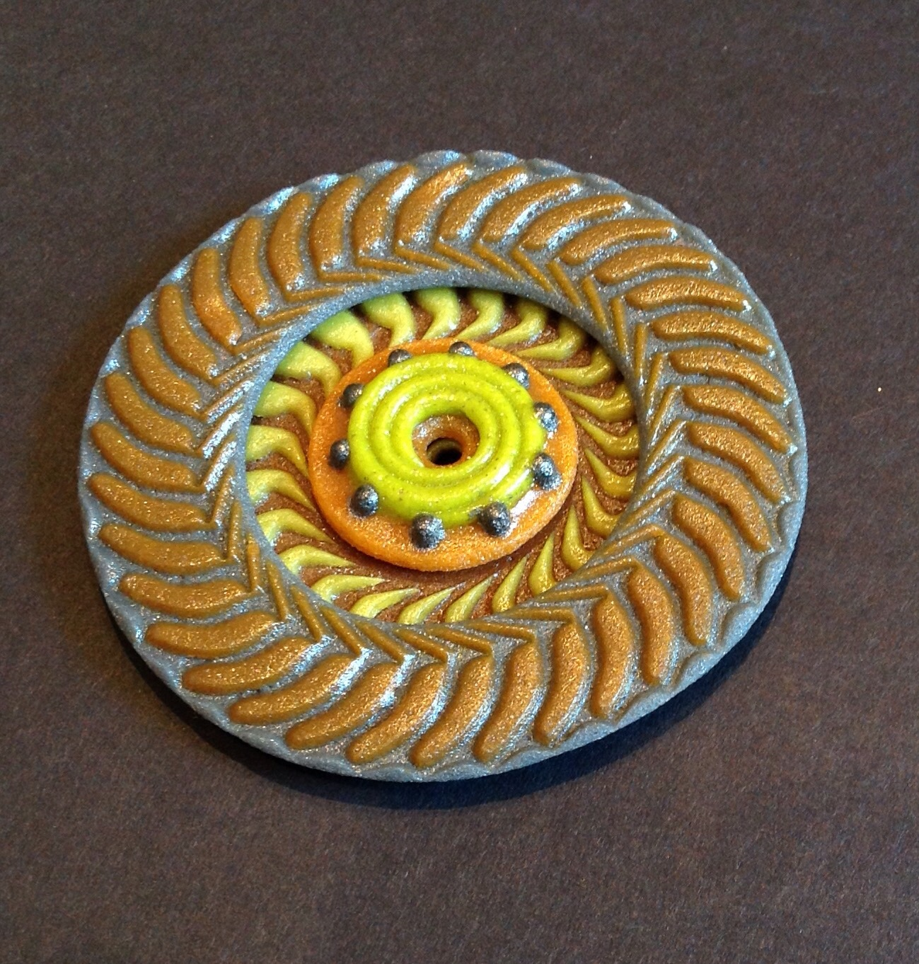 New Glass Clay Focal piece for your own jewelry design.