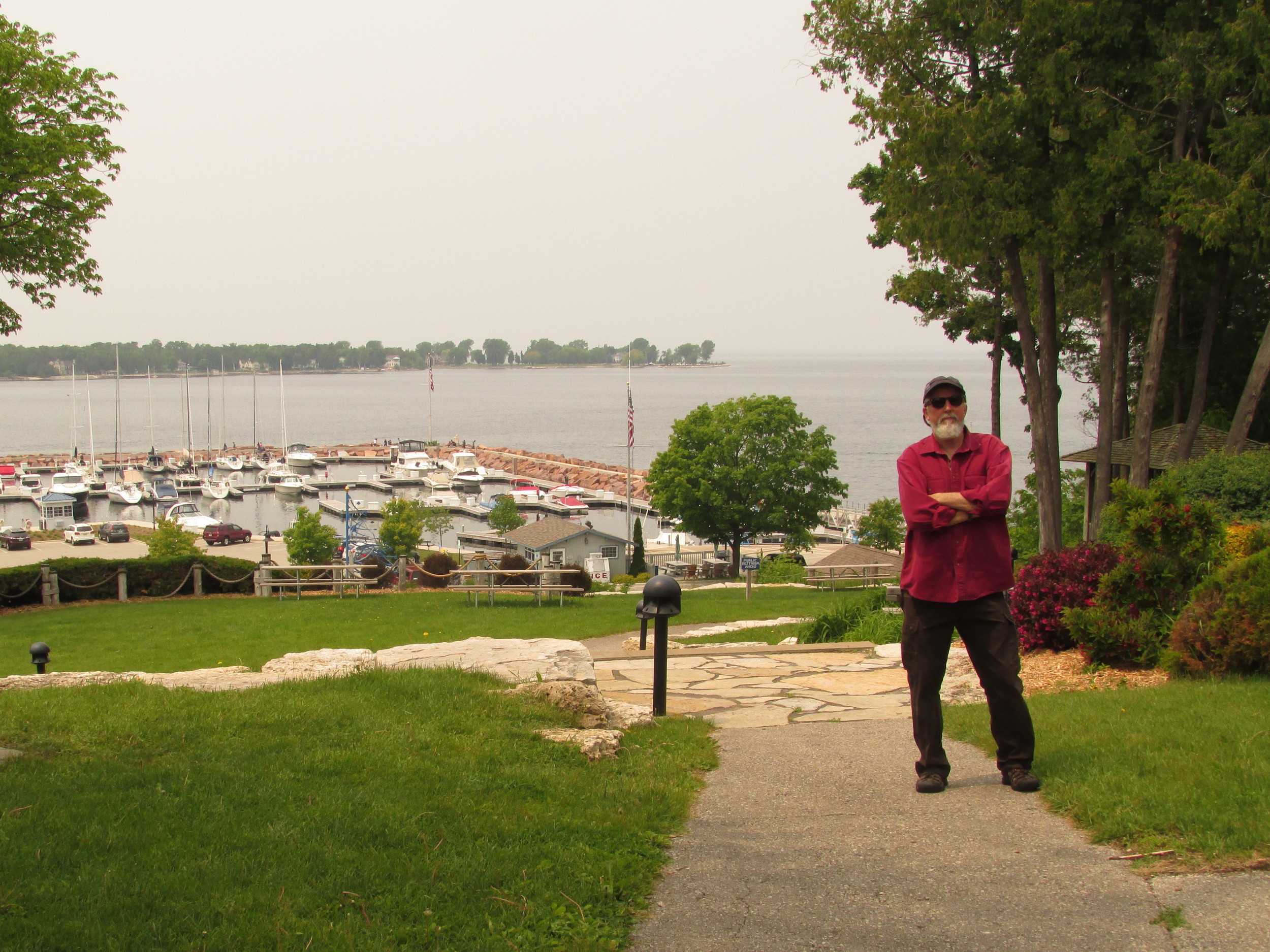 Wayne at Egg Harbor, Door County. Lots of small harbors and quaint villages.......and of course, boats.