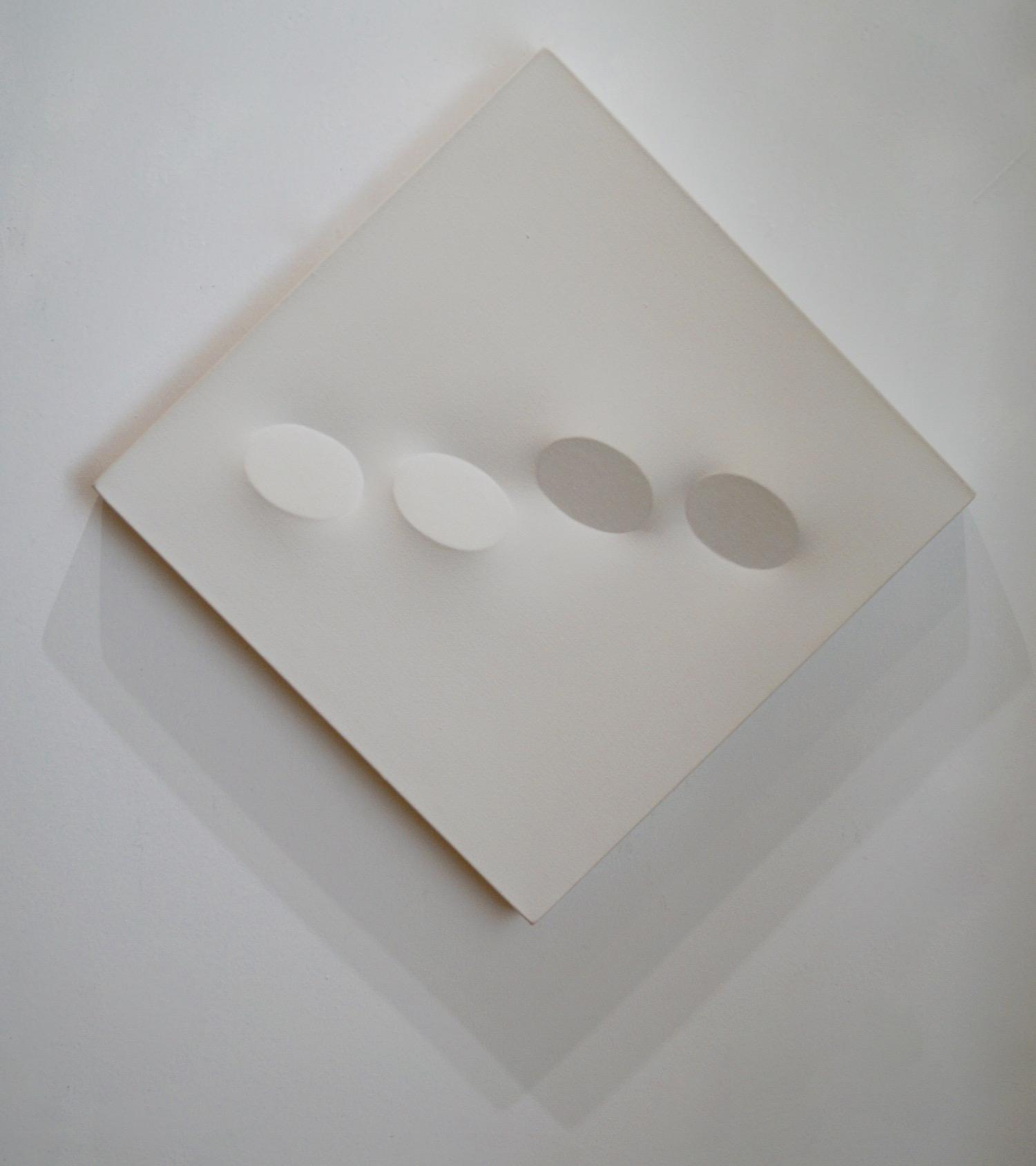 Turi Simeti Bianco, 1994 Acrylic on shaped canvas 50 x 50 cm   19 2/3 x 19 2/3 in
