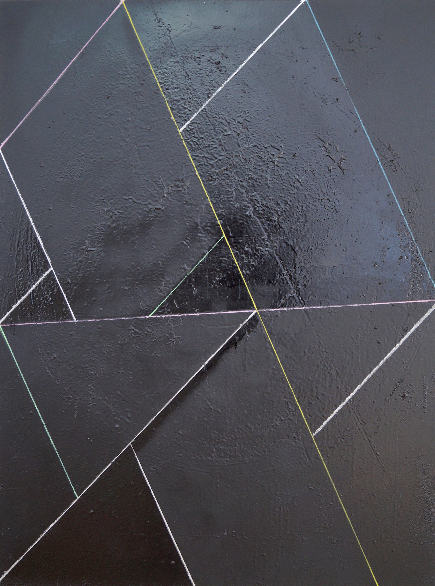Peter Peri Diagonal Section 1 Mixed media on canvas 100 x 70 cm   39 1/3 x 27 1/2 in