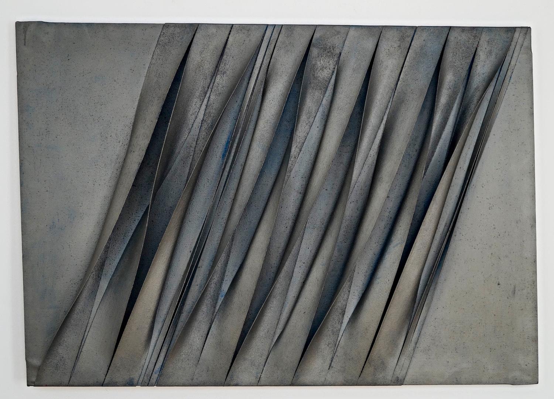 Pino Manos Spazio Estroflesso, 1970 mixed media on canva 95 x 135 cm   37 1/2 x 53 1/4 in