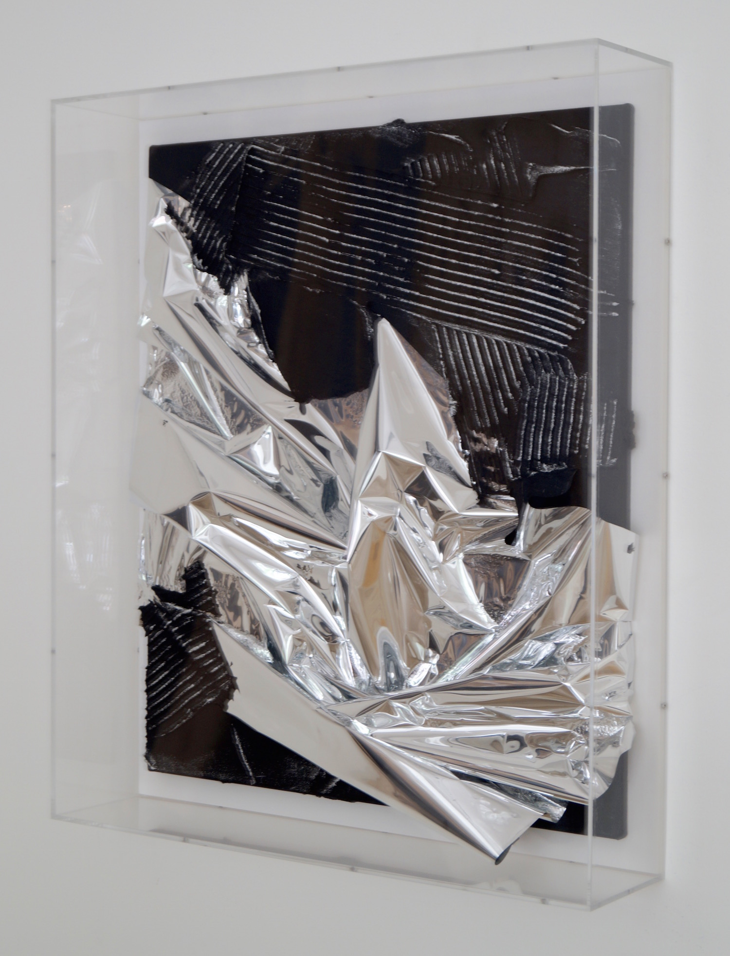 Anselm Reyle Untitled, 2007 mixed media on canvas in acrylic box 74 x 63 x 14 cm   29 1/4 x 24 3/4 x 5 1/2 in