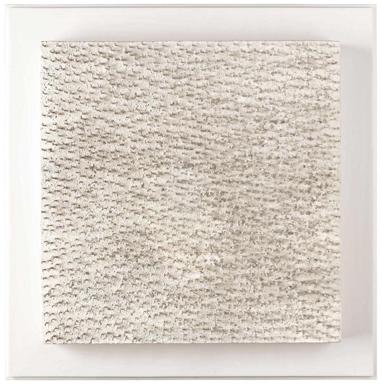 Günther Uecker Untitled, 1971 Nägel und Acryl auf Leinwand montiert auf Holz 40 x 40 cm | 15 3/4 x 15 3/4 in GU/O 15