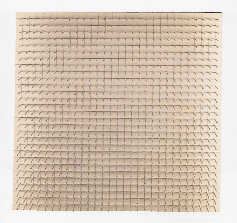 Günther Uecker Raumgreifende Linien. Taktiles Objekt, 1970 Nägel und Graphit auf Leinwand über Preßspanplatte 90 x 90 x 14 cm | 35 1/2 x 35 1/2 x 5 1/2 in gerahmt: gerahmt | framed GU/O 11 sold