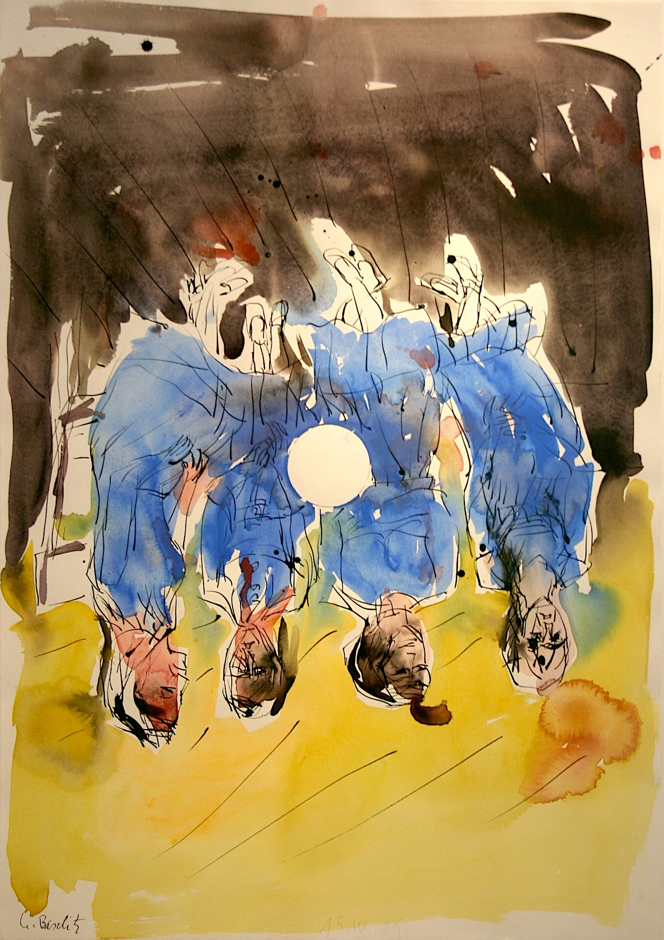 Georg Baselitz Ohne Titel (vier Damen), 2001 Aquarell und Tusche auf Papier 100,5 x 60,8 cm | 39 1/2 x 24 in GB/P 11