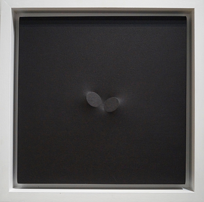 Turi Simeti Nero, 2011 Acrylic on shaped canvas 50 x 50 cm   19 2/3 x 19 2/3 in