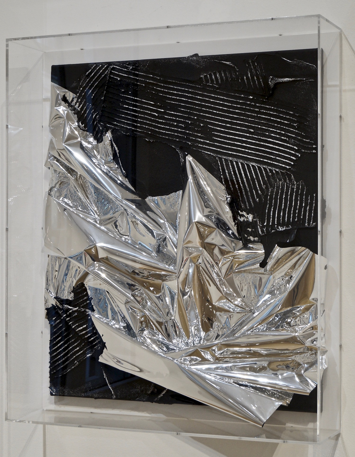 Anselm Reyle Untitled, 2007 mixed media on canvas in acrylic box 74 x 63 x 14 cm | 29 1/4 x 24 3/4 x 5 1/2 in ARE/M 1