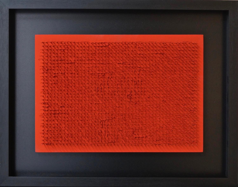 Bernard Aubertin Tableau clou, 1968 nails and acrylic on wood 35 x 50 cm | 13 3/4 x 19 2/3 in BA/M 24