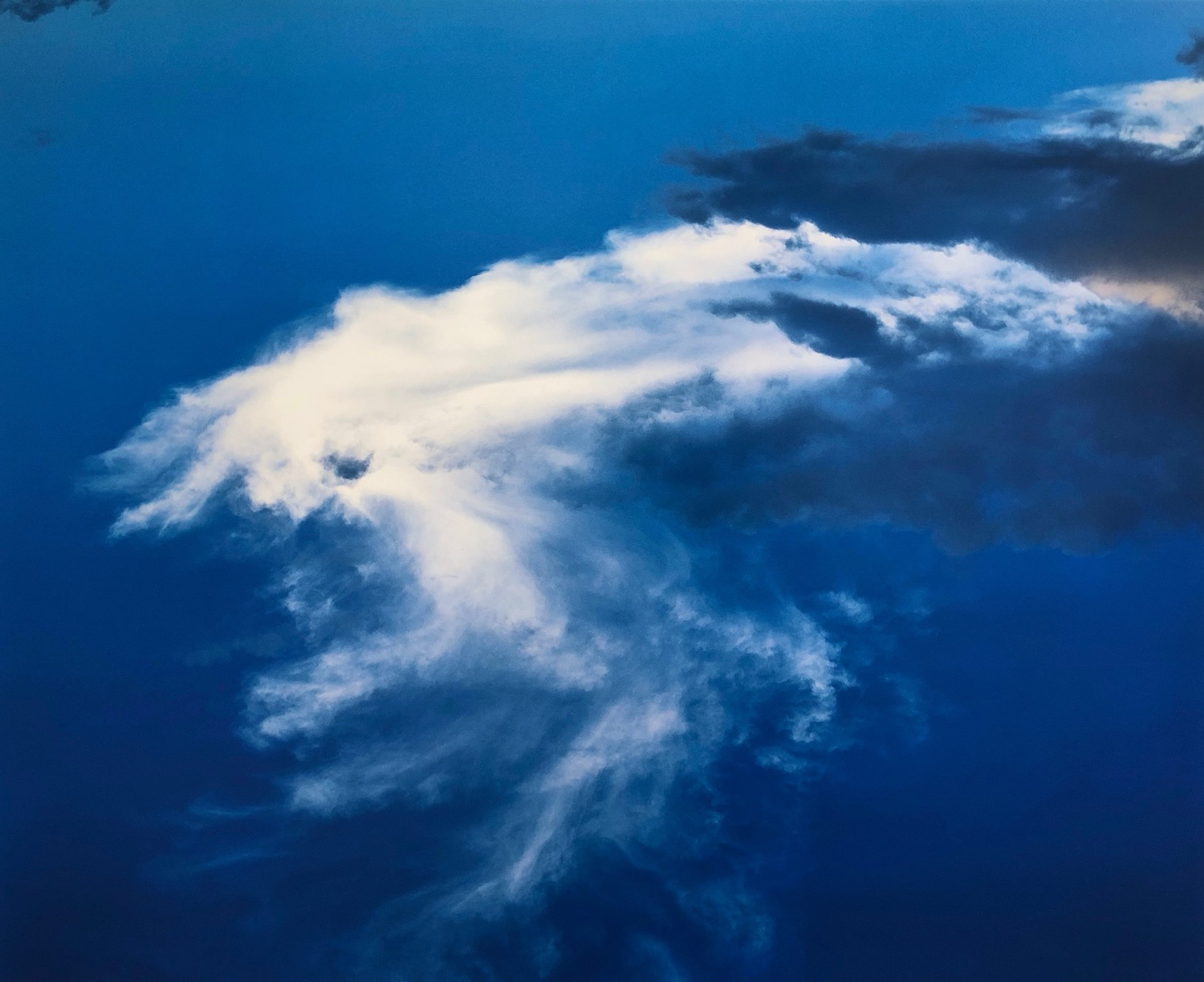 Michael Doster Cloud (Biarritz) 2008 97 x 120 cm Analog Photography C-Print on Alu-Dibond signed dated and numbered 1/3
